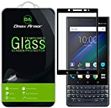 [2-Pack] Dmax Armor for BlackBerry KEY2 LE [Tempered Glass] Screen Protector, (Full Screen Coverage) (Black)