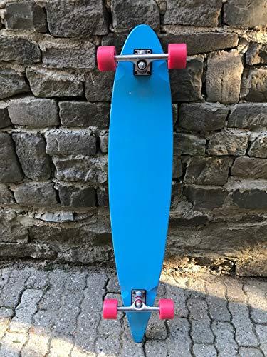 Moose Longboard Komplettboard Skateboard Pintail Light Blue/Black - 1B Ware mit Kratzern
