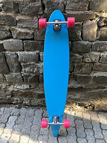Moose Longboard Komplettboard Skateboard Pintail Light Blue/Black - 1B Ware mit Kratzern