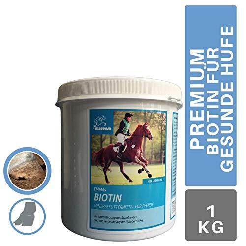 Biotin Plus Zink für Pferde I Mineral-Futter zum Stärken von Hufen I Mineralien gesunde Hufe & Hufwachstum I Haut Haare & glänzendes Fell I trockene brüchige Pferde-Hufe I Huffestiger 1KG