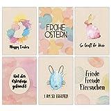 Papierdrachen Osterkarten Set Packpapier bunt - 12 liebevoll gestaltete Postkarten zu Ostern - Grußkarten Set 8 - Ostern 2021