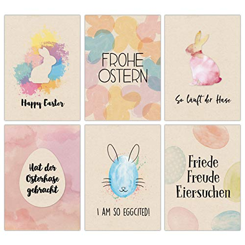 Papierdrachen -   Osterkarten Set