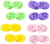'Loc A Sok' Sockenklammern - Grün, Rosa, Lila und Gelb (40 farbenreich Stück)