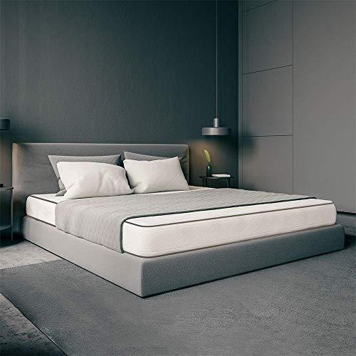 Ailime Matelas orthopédique waterfoam à mémoire de Forme Hauteur 20 cm Revêtement Cotton modèle Printemps 80 x 190cm Blanc