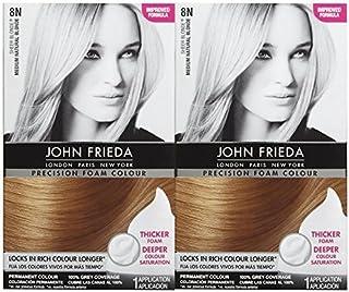 John Frieda Precision Foam Hair Colour, Medium Natural Blonde 8N, 2 pk