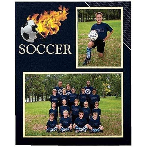 Soccer Player/Team 7x5/3.50x5 MEMORY MATES cardstock double photo frame sold in 10's - 5x7 Nebraska