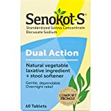 Best Natural Laxatives - Senokot-S Dual Action 60 Tablets, Natural Vegetable Laxative Review