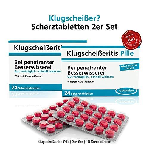 Klugscheißeritis Pille Scherztabletten 2 Packungen a 22g