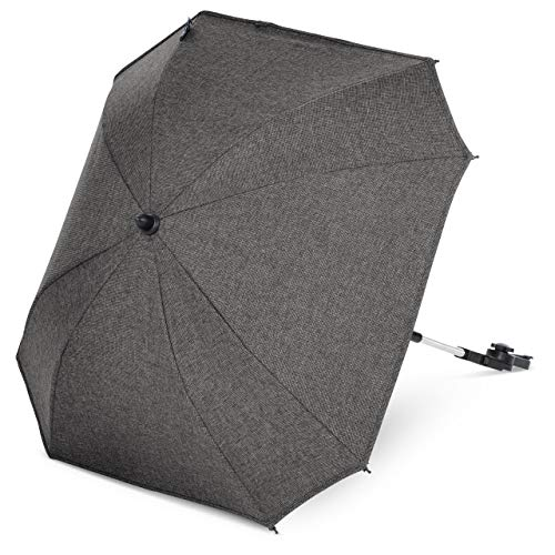 ABC Design Universal Sonnenschirm Sunny - für Kinderwagen und Buggy - UV-Schutz 50+ - Universalhalterung für Rund- und Ovalrohre