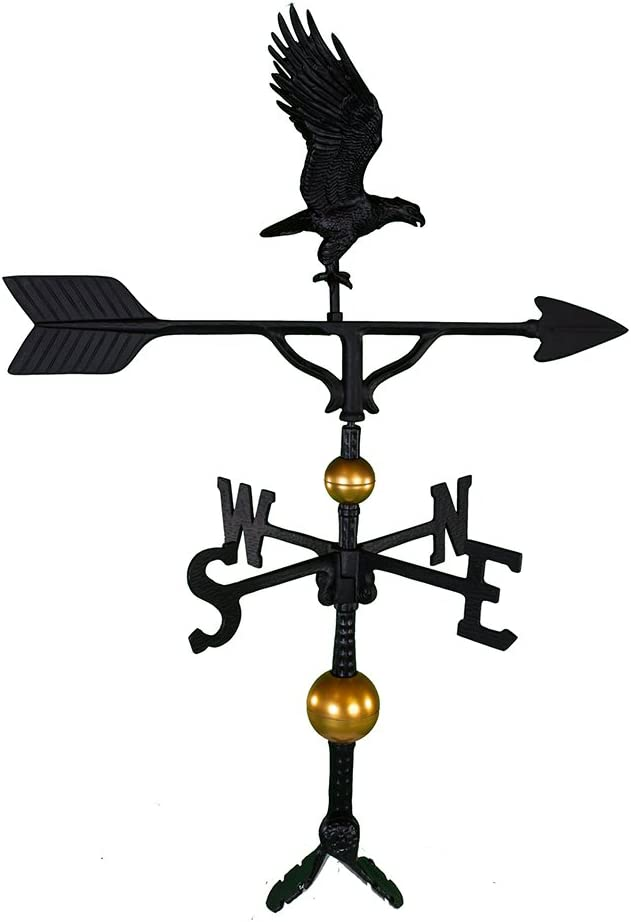 Montague Metal Products 32-Inch Deluxe Max 72% OFF Weathervane Fu mart Black with