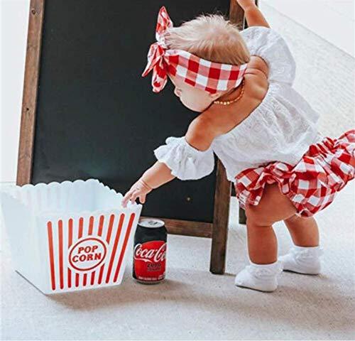 Top Bloguerinha Bebê Menina Calcinha Saia Xadrez Vermelho Ft Tamanho:1 a 2 Anos;Cor:Branco