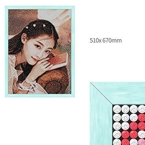 YWXKA 5D Diamant Malerei Kits nach Zahlen, volle Bohrgerät Pushpin Stickerei-Kreuz-Stich-Mosaik-Herstellung, Custom & Erstellen Sie Ihr eigenes Foto