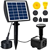 NVRGIUP 3W Solar Fountain Pump for Bird Bath, 2021 Latest Upgraded Pluggable Solar Garden Fountain With 7 Kinds of Sprayers, Perfect for Outdoors, Pool, Patio, Yard, Swimming Pool, Fish Tank and Pond