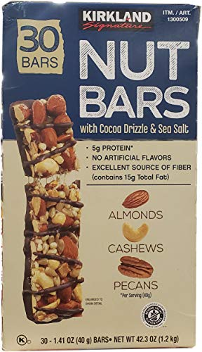 KIRKLAND SIGNATURE Nut Bars 30Count (2.64 Lbs), 42.3 Oz (096619215607)