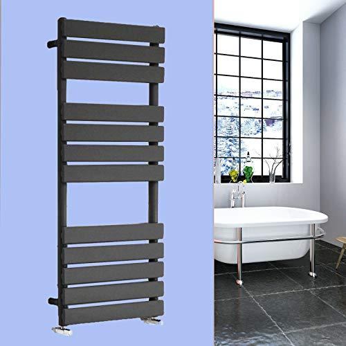 Xinng 1200x600mm Kolom Verwarmde Handdoek Rail voor Radiator Vlakke Panel Ladder Radiator Wandgemonteerde Verticale Spoorverwarming voor Badkamer BTU 2446-20 Jaar Garantie