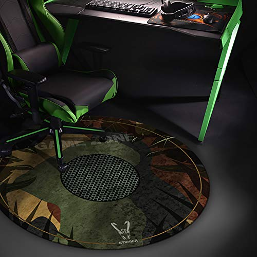 Woxter Stinger Floorpad Camouflage - Alfombrilla Gaming de Suelo, Tapete Protector para Suelo - Resistente al Agua, Lavable, 100% Microfibra, Diametro 120 cm, Color Camuflaje