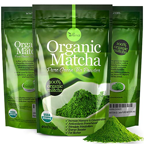 GIVES YOU ENERGY - There is caffeine in Matcha, but it releases into the bloodstream slowly. Matcha's caffeine has an alkalizing effect, resulting in a much gentler influence on the stomach, which gradually aids with digestion, healing, cleansing. IN...