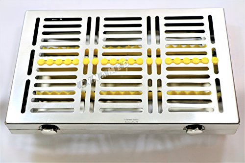 Premium German 1 Each Dental Surgical Autoclave Sterilization Cassettes for 20 Instruments-Detachable LID Double Botton Type