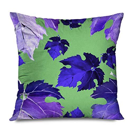 WH-CLA Throw Pillow Covers Vino Uvas Hojas Fruta Color Jardín Comida Natural 6 Vid Diseño Naturaleza Texturas Ele-Ment Funda De Almohada Regalo De Cumpleaños Ropa De Cama Estándar Cremal