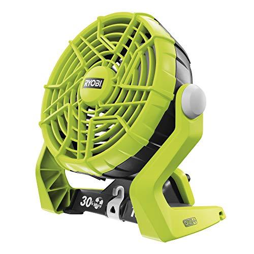 Ryobi 5133002612 Ventilator R18F-0 ohne Akku und Ladegerät, 18 V, Schwarz, Grün