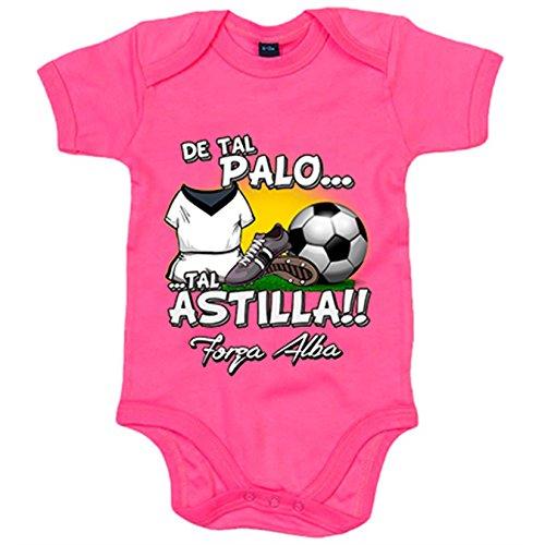 Body bebé De tal palo tal astilla Albacete fútbol - Rosa, 12-18 meses