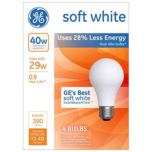 General Electric 4pk 40w Energy Efficient Halogen Light Bulb Soft White
