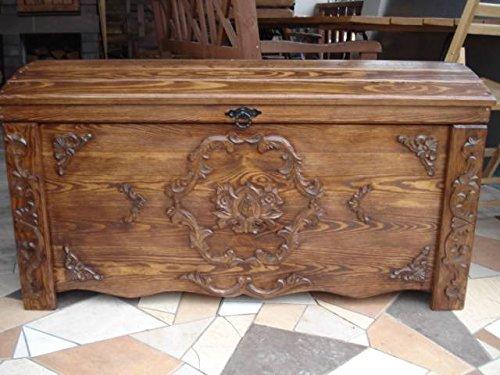 massive handgemachte Holzkiste Truhe Box Holz Aufbewahrung Antik Dekoration JUL1