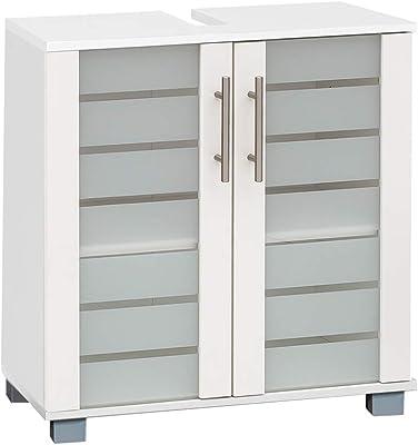 Schildmeyer 105646 NIKO Meuble de lavabo Blanc Perle 59,8/32,6/62,4 cm
