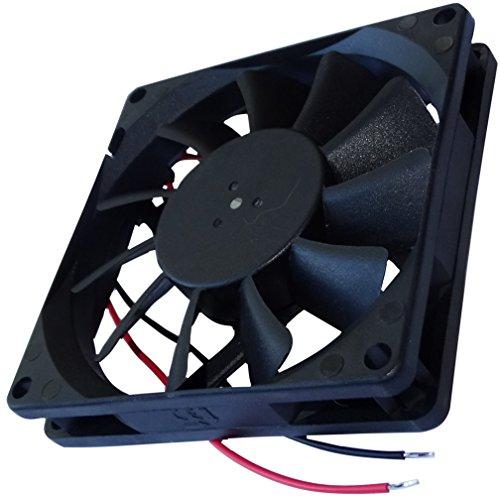 AERZETIX: Ventilador para Caja de Ordenador PC 24V 80x80x15mm 62,86m3/h 34,7dBA 3000rpm 2.38W 0.099A Deslizante 2 Cables 24AWG C14580