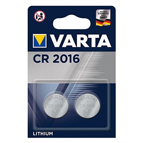 Oferta de Pila de botón de litio de 3 V VARTA Electronics CR2016, pilas de botón en un blíster original de 2 unidades