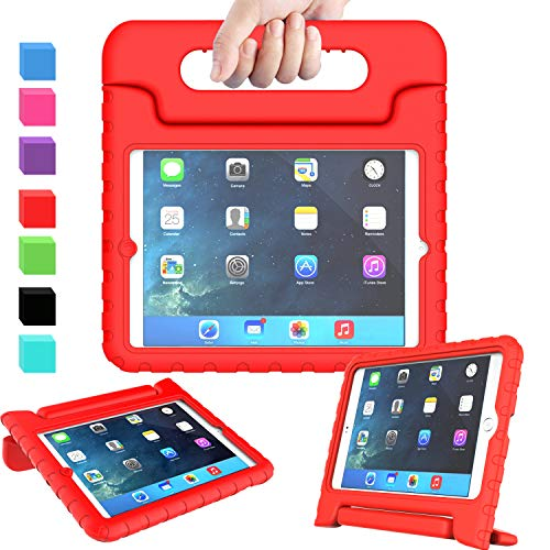AVAWO Kids Case Compatible for iPad Mini 1 2 3 - Light Weight Shock Proof Handle Stand Kids Compatible for iPad Mini, iPad Mini 3rd Generation, iPad Mini 2 with Retina Display - Red