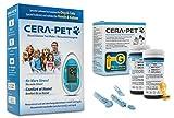 Cera-Pet Blutzuckermessgerät Set Vorteilspack für Hunde und Katzen + 50 Blutzuckerteststreifen + 50 Lanzetten