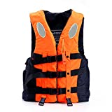CHAOBEITE Schwimmwesten Rettungswesten für Kinder und Erwachsene, Verschiedene Größen und Farben … (Orange, M Für Höhe 155cm-168cm 45-60KG)