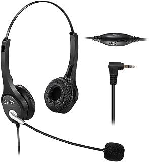 Callez Auriculares Teléfono Fijo Inalámbrico 2,5 mm Dual, Micrófono con Cancelación de Ruido, Cascos Manos Libres para Gigaset C430A C530ABT PhonePanasonic Cisco SPA 303 PolycomGrandstream (C402D)