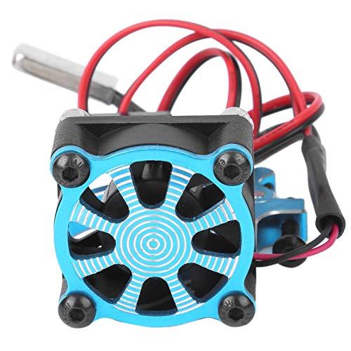 banapoy Ventilador de refrigeración, disipador de Calor del Motor del Coche RC, con Sensor térmico Exquisito Coche Modelo RC(Blue)