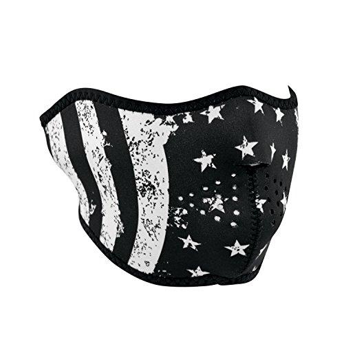 ZANheadgear WNFM091H Black and White Flag Adult/Unisex Face Masks