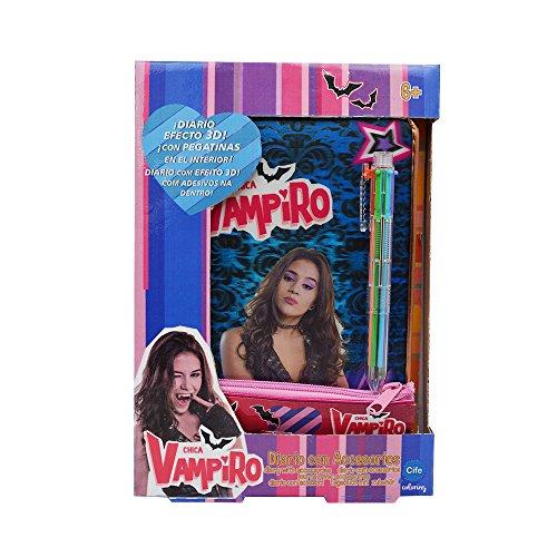 Chica Vampiro–Diario con Accessori, Effetto 3D, CIFE 41434