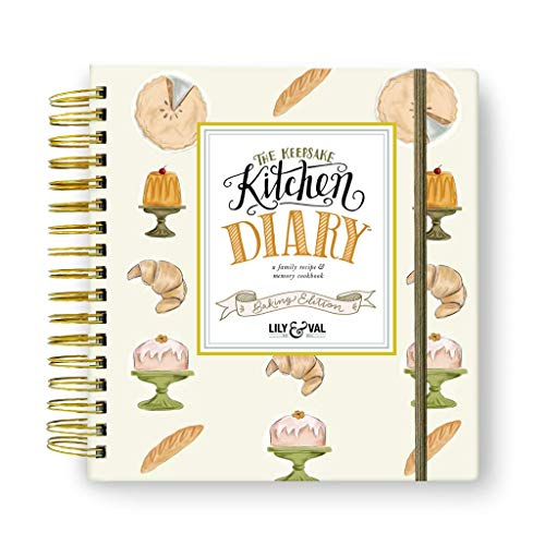 Lily and Val Blank Recipe Book to Write in Your Own Recipes Keepsake Kitchen Diary Family Cookbook & Recipe Journal Baking Cook Book