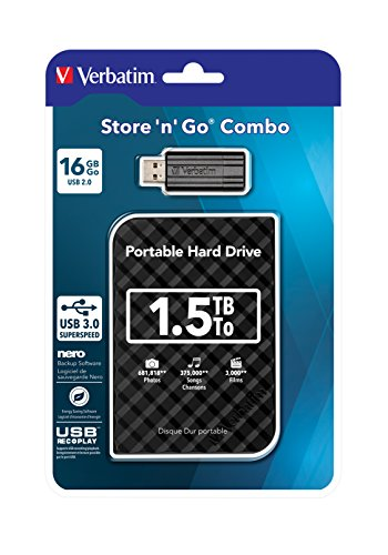 Verbatim Store n Go Combo Set HDD Esterno 1,5TB + USB Stick