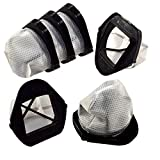 HQRP 6-Pack Dust Cup Filters Compatible with Shark VX33 SV769 SV780 SV760 Series Cordless Hand Vac Handheld Vacuums, Part XF769 XSB726N Replacement