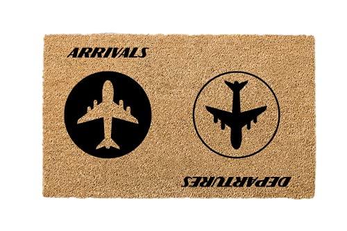 Llegadas Salidas, Salidas Llegadas Estera de la puerta, Avión, Trabajador de vuelo, Presente piloto, Aeropuerto presente, Felpudo reversible, Aeropuerto