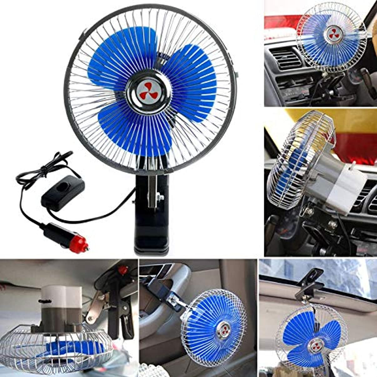 New 12V Powered Mobile Auto Cars Fan Oscillating Cooling Fans with Clip
