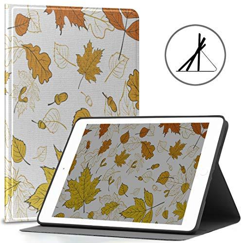 iPad 9.7 Funda Protectora Otoño Naranja Hojas de Arce Nature Fit 2018/2017 iPad 5ta / 6ta generación Funda para 9.7 iPad También se Ajusta iPad Air 2 / iPad Air Auto Wake/Sleep