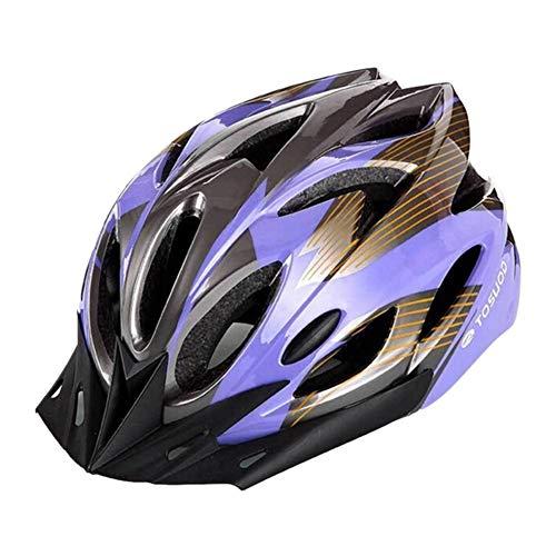 alsu3luy02Ld Casco de seguridad para bicicleta de montaña y carretera, ligero, ajustable,...