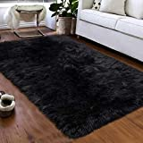 Softlife Faux Fur Sheepskin Area Rug Shaggy Wool Carpet for...