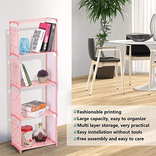 Prateleira grande estante de armazenamento prateleira estante de livros Armazenamento para sala de estar(Lucky cherry)