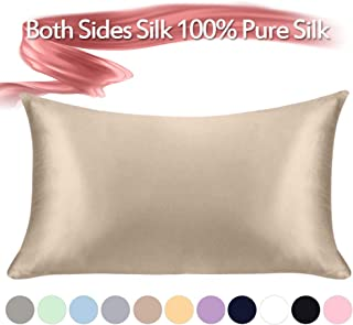 Jaciu 100% Pure Silk Pillowcase,21 Momme Both Side Silk Pillowcases King/Queen/Standard Size Hidden Zippered Mulberry Silk Pillowcase Hypoallergenic Soft Breathable for Hair, Skin and Good Sleep