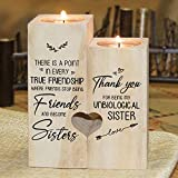 Candle Holder - to My Bestie - Thank You for Being My Unbiological Sister - Gift for Birthday, Anniversary, for Best Friend, Bestie
