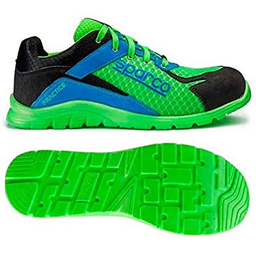 Sparco 0751745VFAZ Zapatillas, Verde/Azul, 45