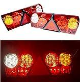 2 luci universali per rimorchio posteriore a LED, 12 V, 24 V, 6 funzioni, per camion, camion, rimorchio, luci